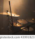 Live music theme, rock band drum set 43991823