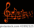 background line musical 43992325