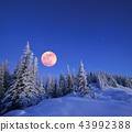 Full moon in winter 43992388