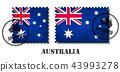 Australia or australian flag pattern postage stamp 43993278