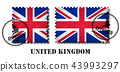 United kingdom of great britain flag stamp 43993297