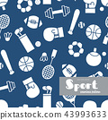 Vector set of sports icons. . seamless pattern. 43993633