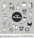 Vector set of Clothing icons. Doodle. 43993682