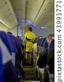 blurred flying attendants ,air hostess 43993771