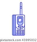Old Retro Vintage Brick Cellular Phone 43995032