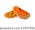 Thai Crispy Pancake (Kanom Buang) on white 43997806