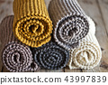 Five knitted wooden scarves 43997839