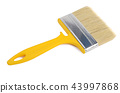 Brush for painting paint isolated on white backgro 43997868