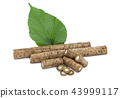 Burdock roots isolated on the white background. 43999117