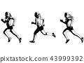 female sprinter sketch illustration 43999392