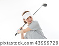 Young lady golf 43999729