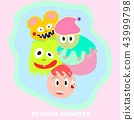 monster cute background 43999798