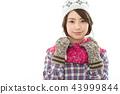 젊은 여성 겨울 43999844