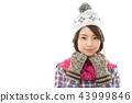 젊은 여성 겨울 43999846