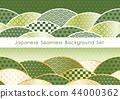 無縫日本模式背景設置 44000362