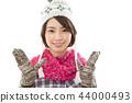 젊은 여성 겨울 44000493