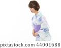 젊은 여성 유카타 44001688