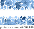 Floral arrangement template in blue 44002486