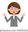 矢量 成熟的女人 一個年輕成年女性 44002526