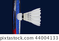badminton racket and shuttlecock 44004133