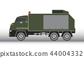 Military truck vector and illustration 44004332