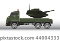 Military truck vector and illustration 44004333