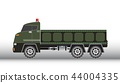 Military truck vector and illustration 44004335