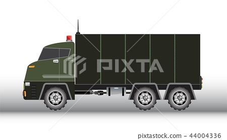 Military truck vector and illustration 44004336