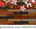 Christmas background with parquet pattern and 44004549
