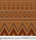 Geometric abstract knitted pattern.  44005220