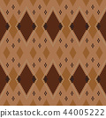 Geometric abstract knitted pattern. 44005222