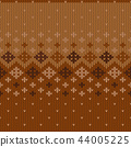 Geometric abstract knitted pattern. 44005225