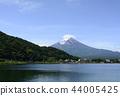 山 Yamanashi Prefecture》 Mt. Fuji and Kawaguchiko in the early summer 44005425