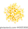Fresh corn isolated on white background 44005908