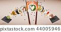 food, sushi, chopsticks 44005946