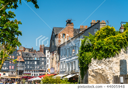 Traditional houses in Honfleur. Normandy, France 44005948