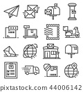 Vector line post service icons set 44006142