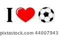 I love football pictogram typography 44007943