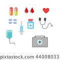 Group of medicine, health, tool  44008033