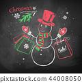 shopper, snowman, blackboard 44008050
