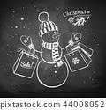 greeting, blackboard, chalkboard 44008052