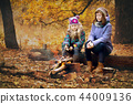 Two girls on picnic 44009136