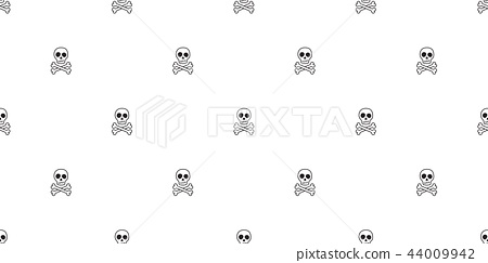 Crossbone seamless pattern vector pirate Halloween 44009942