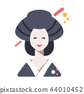 Geisha Flat illustration 44010452