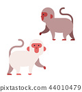 Japanese Monkey Flat illustration 44010479