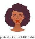 女性 女 脸部 44010564