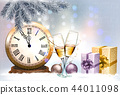 New Year Holiday background with a gift boxes 44011098