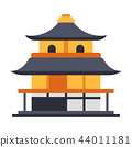 Kinkaku-ji Temple Flat illustration 44011181
