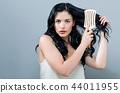woman hairbrush beautiful 44011955