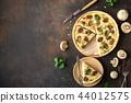 Mushroom Quiche Pie 44012575